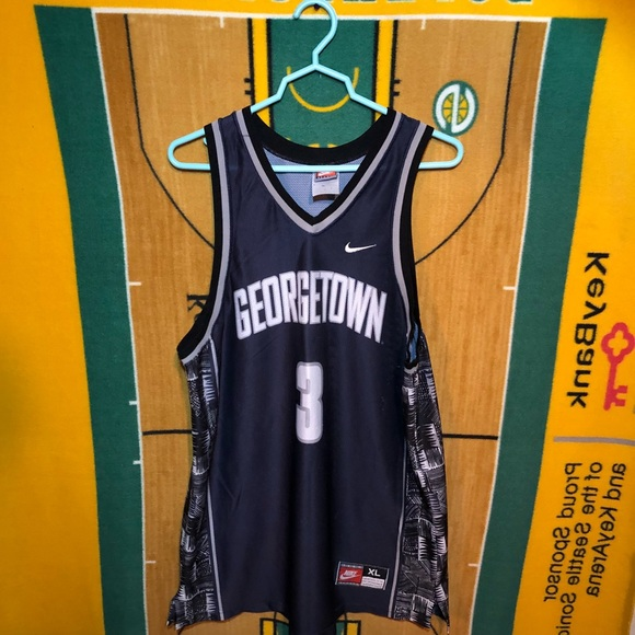 info for abd26 abc11 Vintage Georgetown Hoyas Nike Basketball Jersey XL